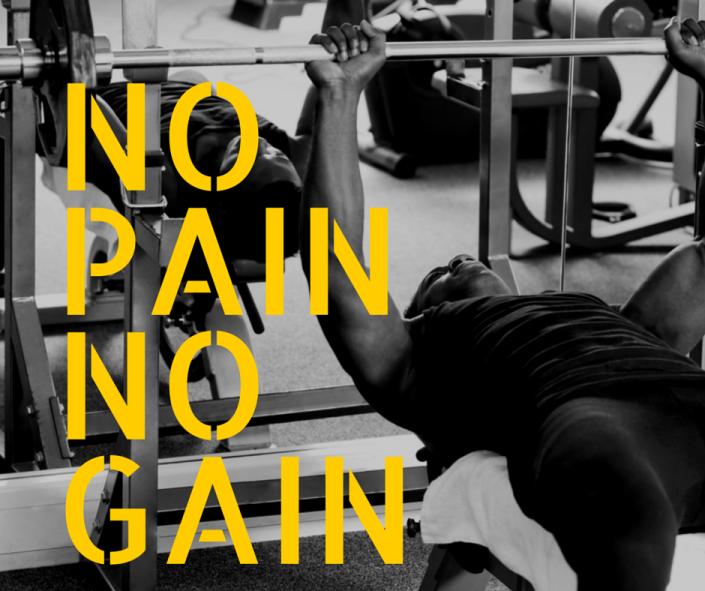 Ohne Schmerz keine Muskelzunahme