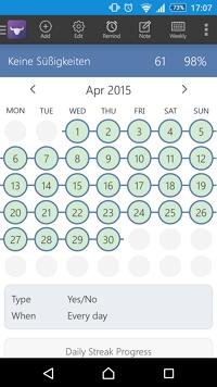 Kalender mit geschafften Aufgaben