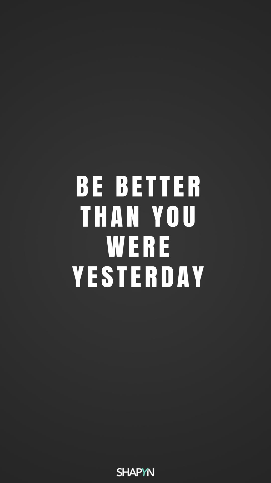 sei besser als gestern dunkel